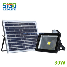 High quality solar flood light 30W save energy for courtyard